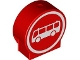 Part No: 41970px5  Name: Duplo, Brick 1 x 3 x 2 Round Top Road Sign with White Bus in White Circle Pattern