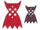 Part No: 42450pb01  Name: Minifigure, Cape Cloth, Angular Points and Collar with Vampire Black Side Pattern
