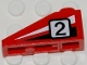 Part No: 4286pb010L  Name: Slope 33 3 x 1 with Black Number 2 on Black and White Stripes Pattern Model Left (Sticker)