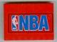 Part No: 4515pb008  Name: Slope 10 6 x 8 with NBA Blue Pattern (Sticker) - Set 3432