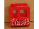 Part No: 4544pb05  Name: Duplo, Train Steam Engine Cabin with Red 'CIRCUS' and Stars Pattern