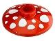 Part No: 4740pb004  Name: Dish 2 x 2 Inverted (Radar) with Mushroom Spots Pattern