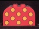 Part No: 4744pb12  Name: Brick, Modified 2 x 4 x 2 Double Curved Top with Dots Medium Orange Pattern