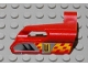 Part No: 47713pb03  Name: Technic, Panel Fairing #25 Small Short, Small Hole, Side A with Number 3, Air Vents and Orange Checkered Racing Pattern (Sticker) - Set 8650