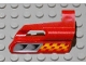 Part No: 47713pb04  Name: Technic, Panel Fairing #25 Small Short, Small Hole, Side A with Air Vents and Orange Checkered Racing Pattern (Sticker) - Set 8650