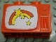 Part No: 4916pb01  Name: Duplo Utensil Television 1 x 2.5 x 1.3 with Rainbow and Stars Pattern