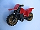Part No: 50860c03  Name: Motorcycle Dirt Bike with Black Chassis and Pearl Gold Wheels