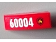 Part No: 50950pb057R  Name: Slope, Curved 3 x 1 No Studs with Black and Yellow Fire Logo Badge and '60004' Pattern Model Right Side (Sticker) - Set 60004