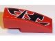 Part No: 50950pb105L  Name: Slope, Curved 3 x 1 No Studs with Black Togokahn Pattern, Model Back, Middle Left (Sticker) - Set 8159
