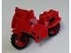Part No: 52035c03  Name: Motorcycle City, Complete Assembly with Black Chassis (Long Fairing Mounts) and Red Wheels