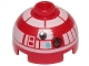Part No: 553pb029  Name: Brick, Round 2 x 2 Dome Top with White Pattern (R3-T2)