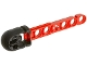 Part No: 57028c01  Name: Technic Competition Arrow, Liftarm Shaft with Hollow Black Rubber End