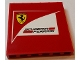 Part No: 59349pb132  Name: Panel 1 x 6 x 5 with Scuderia Ferrari Logo Pattern (Sticker) - Set 75913