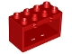 Part No: 60775  Name: Duplo Container Box 2 x 4 x 2 with Open Sides