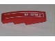 Part No: 61678pb005R  Name: Slope, Curved 4 x 1 No Studs with White Pinstripe and '8-057' Pattern Model Right (Sticker) - Set 8057