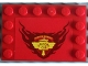 Part No: 6180pb042  Name: Tile, Modified 4 x 6 with Studs on Edges with 'HUDSON HORNET PISTON CUP' Pattern (Sticker) - Set 8484