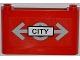 Part No: 64453pb005  Name: Windscreen 1 x 6 x 3 with Train Logo and 'CITY' Pattern (Sticker) - Set 7937