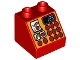 Part No: 6474pb34  Name: Duplo, Brick 2 x 2 Slope 45 with Cash Register with '123' Pattern