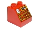 Part No: 6474pb41  Name: Duplo, Brick 2 x 2 Slope 45 with Cash Register with Card Reader and '1.23' Pattern