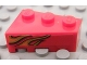 Part No: 6564pb12  Name: Wedge 3 x 2 Right with Dual Orange Flame Pattern Model Left (Sticker) - Set 8484