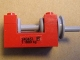 Part No: 73037pb02  Name: String Reel Winch 2 x 4 x 2 (Light Gray Drum) with '240457' and 'P' and 't 1880 kg' Pattern on Both Sides (Stickers) - Set 4555