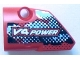 Part No: 87080pb001  Name: Technic, Panel Fairing # 1 Small Smooth Short, Side A with 'V4 POWER' Pattern (Sticker) - Set 8048