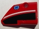 Part No: 87086pb013  Name: Technic, Panel Fairing # 2 Small Smooth Short, Side B with EMT Star of Life Pattern (Sticker) - Set 8068