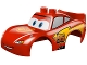 Part No: 88765pb01  Name: Duplo Car Body 2 Top Studs and Spoiler with Cars Lightning McQueen Rust-Eze Pattern