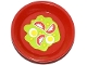 Part No: 93082fpb001  Name: Friends Accessories Dish, Round with Salad Pattern (Sticker) - Set 41034
