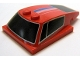 Part No: 93591pb13  Name: Wedge 6 x 4 x 1 1/3 with 4 x 4 Base with Windows and Blue, White and Red Stripes Pattern