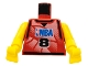 Part No: 973bpb156c01  Name: Torso NBA Player Number 8 Pattern / Yellow NBA Arms