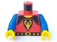 Part No: 973p4bc02  Name: Torso Castle Dragon Knights Dragon Face on Shield Pattern / Blue Arms / Yellow Hands