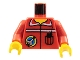 Part No: 973pb0059c01  Name: Torso Space Port Logo and Radio in Pocket Pattern / Red Arms / Yellow Hands