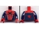 Part No: 973pb0325c01  Name: Torso Spider-Man Costume 3 Dark Blue Pattern / Dark Blue Arms / Red Hands