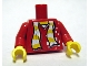 Part No: 973pb0446c01  Name: Torso Scarf Yellow Stripes Pattern (Sticker) / Red Arms / Yellow Hands
