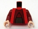 Part No: 973pb0605c01  Name: Torso SW Chancellor Palpatine Pattern / Dark Red Arms / Light Flesh Hands
