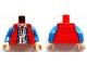 Part No: 973pb1477c01  Name: Torso Down Vest with Plaid Shirt and Blue Denim Jacket Pattern (Marty McFly) / Blue Arms / Light Flesh Hands