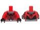 Part No: 973pb1484c01  Name: Torso SW Darth Maul Chest with Gray and Silver Collar and Belt Pattern / Printed Red Arms / Black Hands
