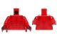 Part No: 973pb2195c01  Name: Torso Bare Chest with Muscles and Dark Red Spots Pattern / Red Arms / Dark Red Hands