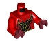 Part No: 973pb2721c01  Name: Torso Nexo Knights Female Outline with Black and Orange Scales Pattern / Red Arms / Dark Red Hands