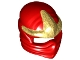 Part No: 98133pb01  Name: Minifigure, Headgear Ninjago Wrap with Gold 3 Point Emblem Pattern
