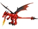 Part No: Dragon04  Name: Dragon (Castle) with Red Head, Complete Assembly