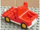 Part No: duptruck01c02  Name: Duplo Truck with 4 x 4 Flatbed Plate and White Base