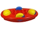 Part No: x1316c02  Name: Duplo Rattle Rocking Bottom with Yellow/Blue Wheels