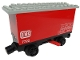 Part No: x488c02pb01  Name: Train Battery Box Car with Red Switch and Black Wheels with 'DB 7722' and Weight Table Pattern on Both Sides (Stickers) - Set 7722