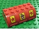Part No: x517pb01  Name: Container, Trunk Lid 4 x 6 x 1 2/3 with Red Stars and Soda Pop Cup Pattern (Stickers) - Set 3681