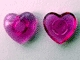 Part No: clikits027u  Name: Clikits Icon, Heart 2 x 2 Small with Pin (Undetermined version)