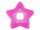 Part No: clikits078  Name: Clikits Icon Accent, Plastic Star 4 x 4 with Raised Border