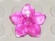 Part No: clikits135  Name: Clikits Icon, Flower 5 Pointed Petals 2 x 2 Large with Pin