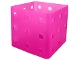 Part No: clikits155  Name: Clikits Container Utensil Holder, Cube 9 x 9 x 6, 9 Holes Each Side